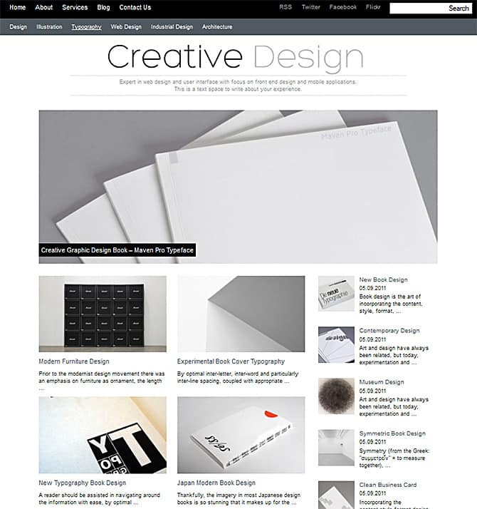 Creative Theme is unique and modern WordPress Theme with 3 column 106QcPfe