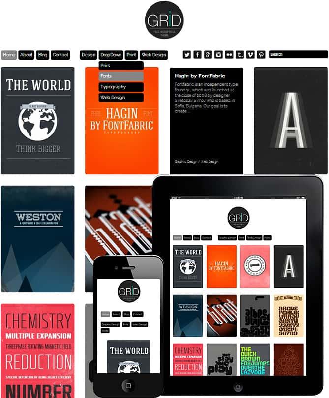 Wordpress responsywne szablony dla fotografów