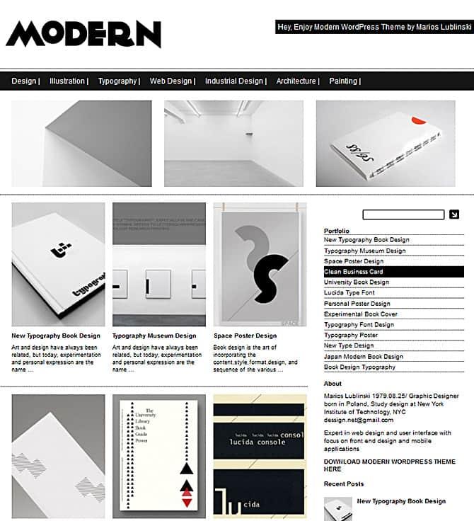 Modern WordPress Themes Modern Theme Â« Premium Portfolio Responsive WordPress ...